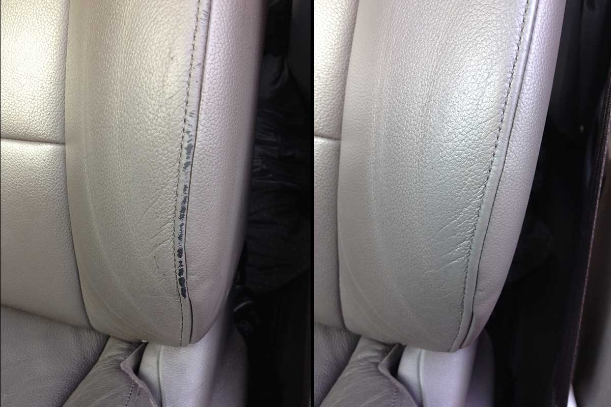 Car seat comprehensive dyeing before and after