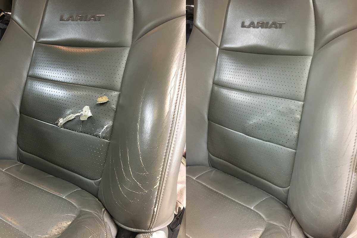 M How To Fix A Leather Car Seat