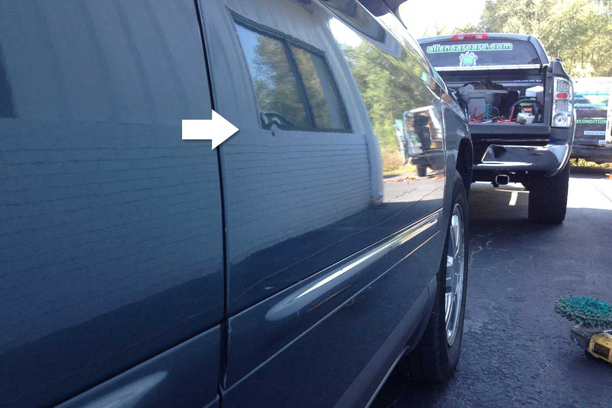 small dent repair on truck