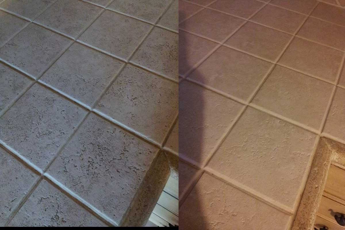 tile stain removal before after