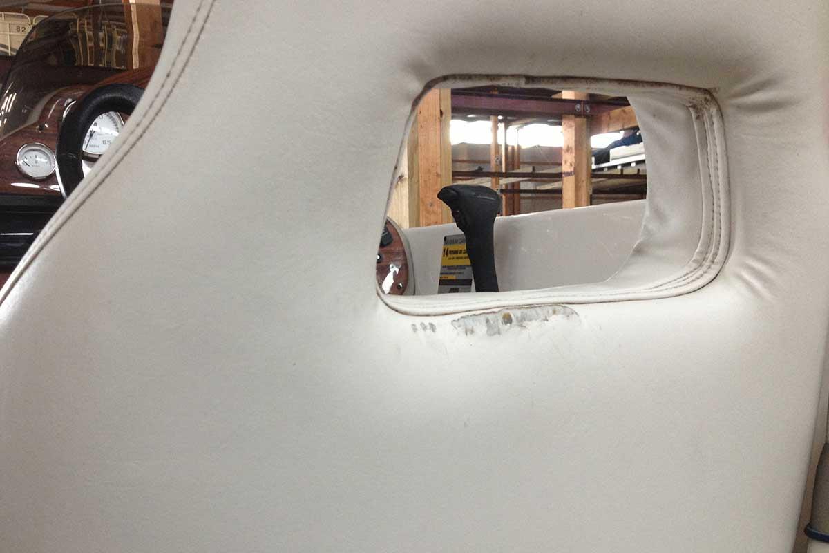 weathered boat seat vinyl