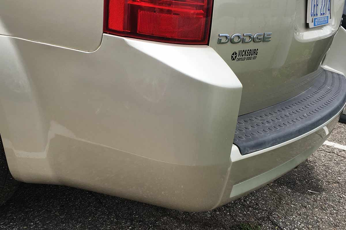tan dodge bumper repair after