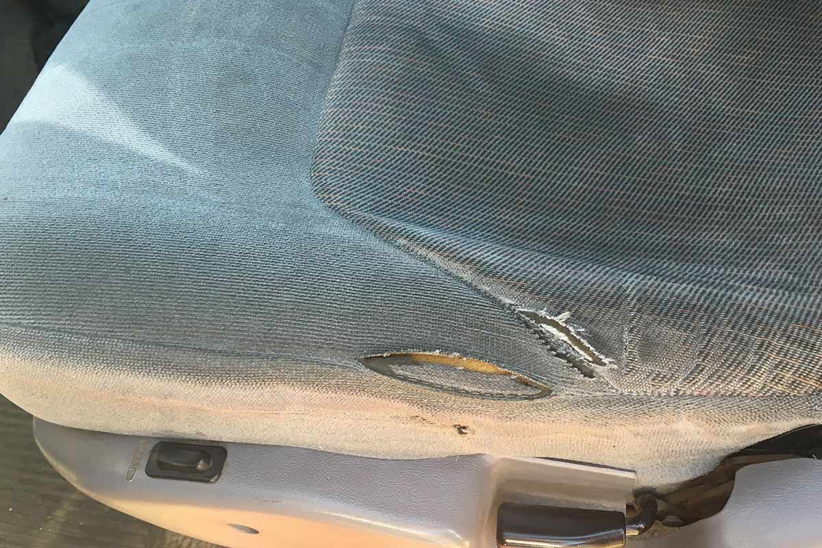 cloth car seat tear