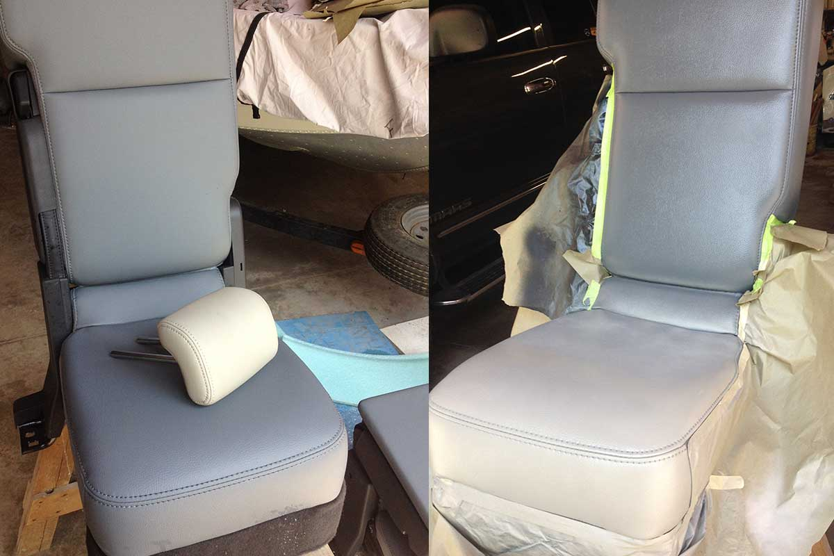 color change on car seats
