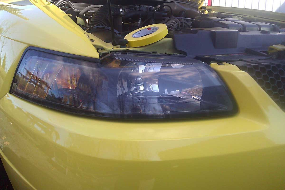 oxidized headlight repair