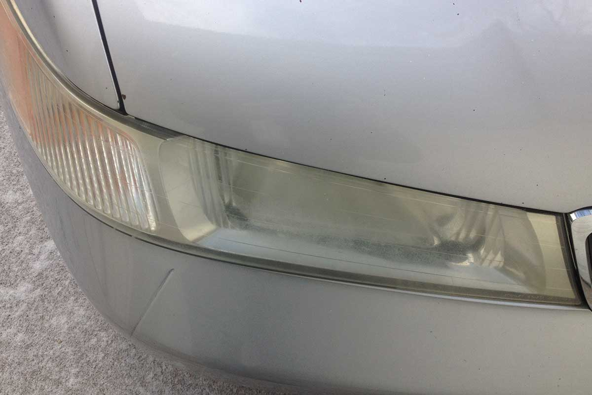 cloudy headlight repair before