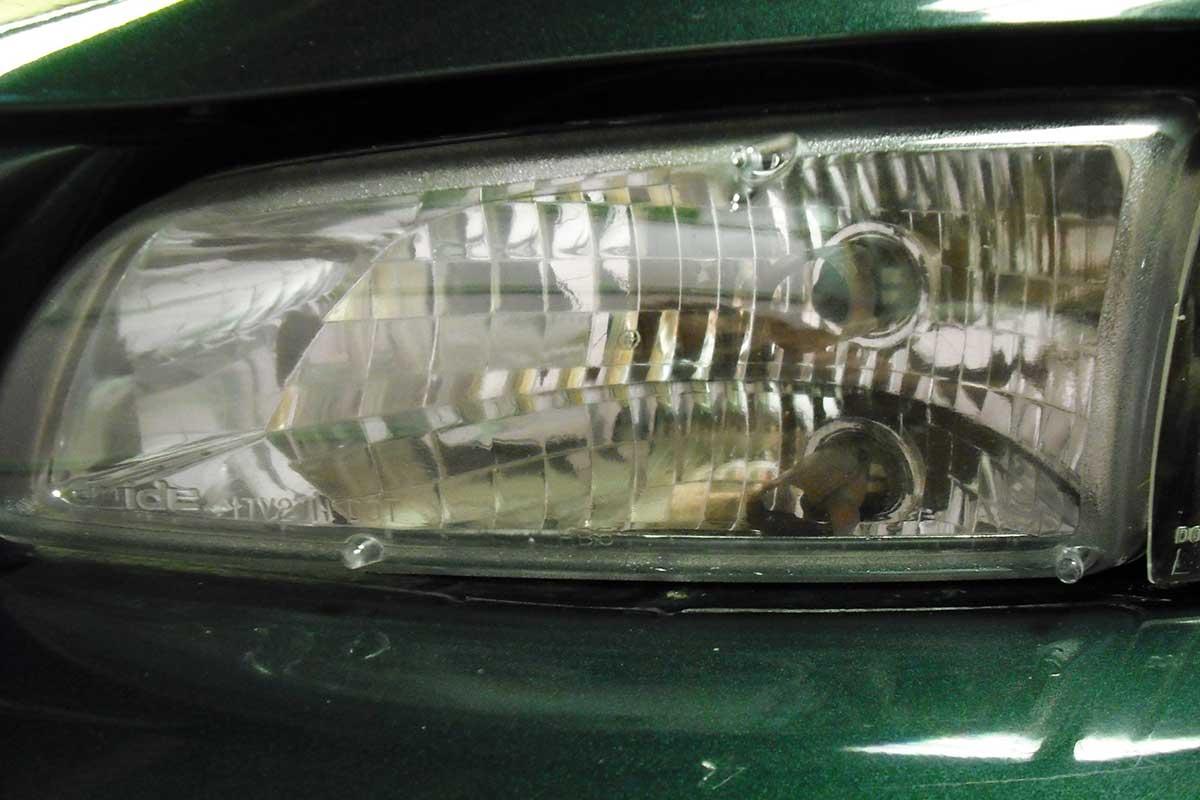 cloudy headlight repair after