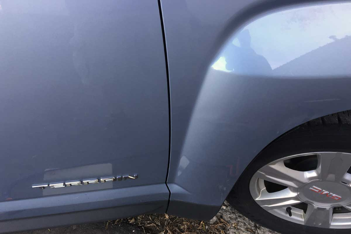 gray terrain paintless dent repair after