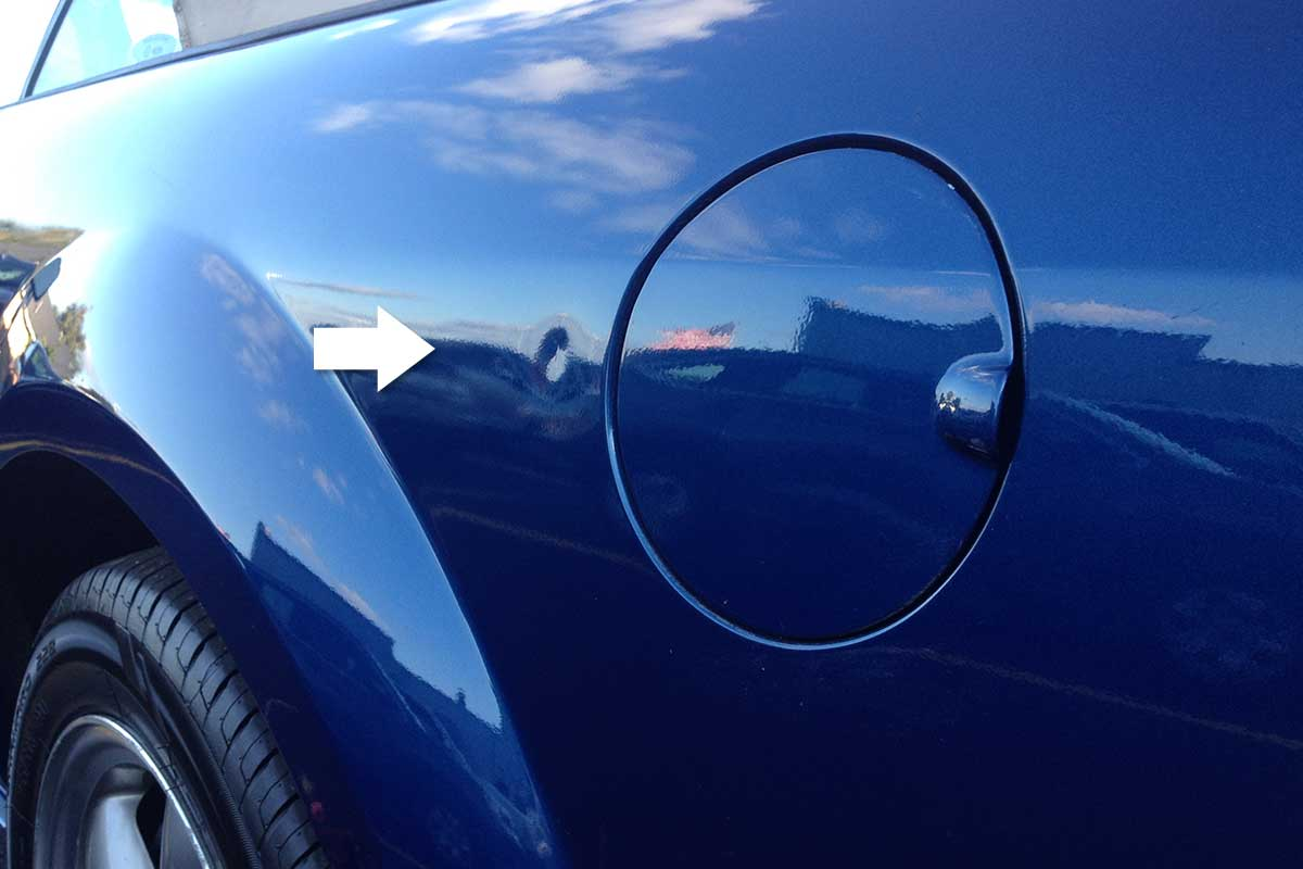 paintless dent removal before