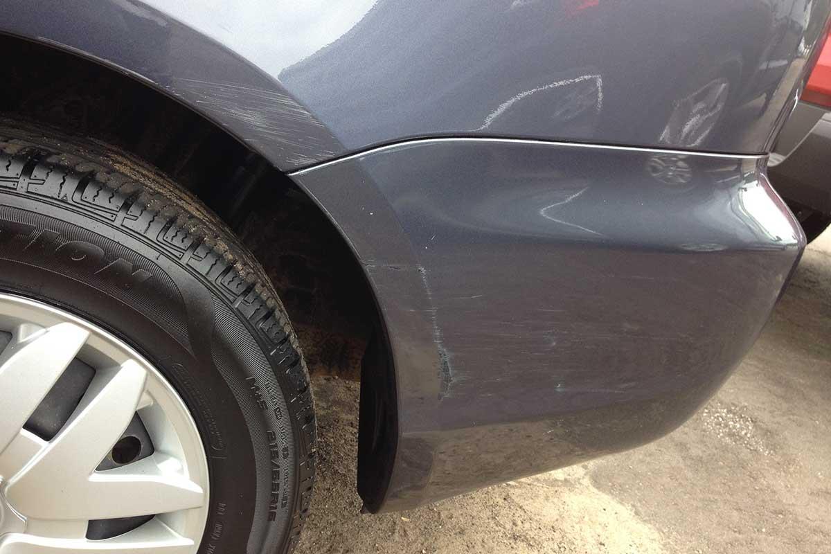 Car paint scrape repair before
