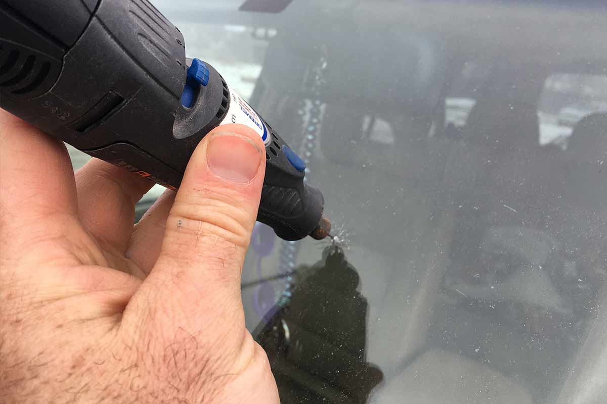 windshield chip repair tool