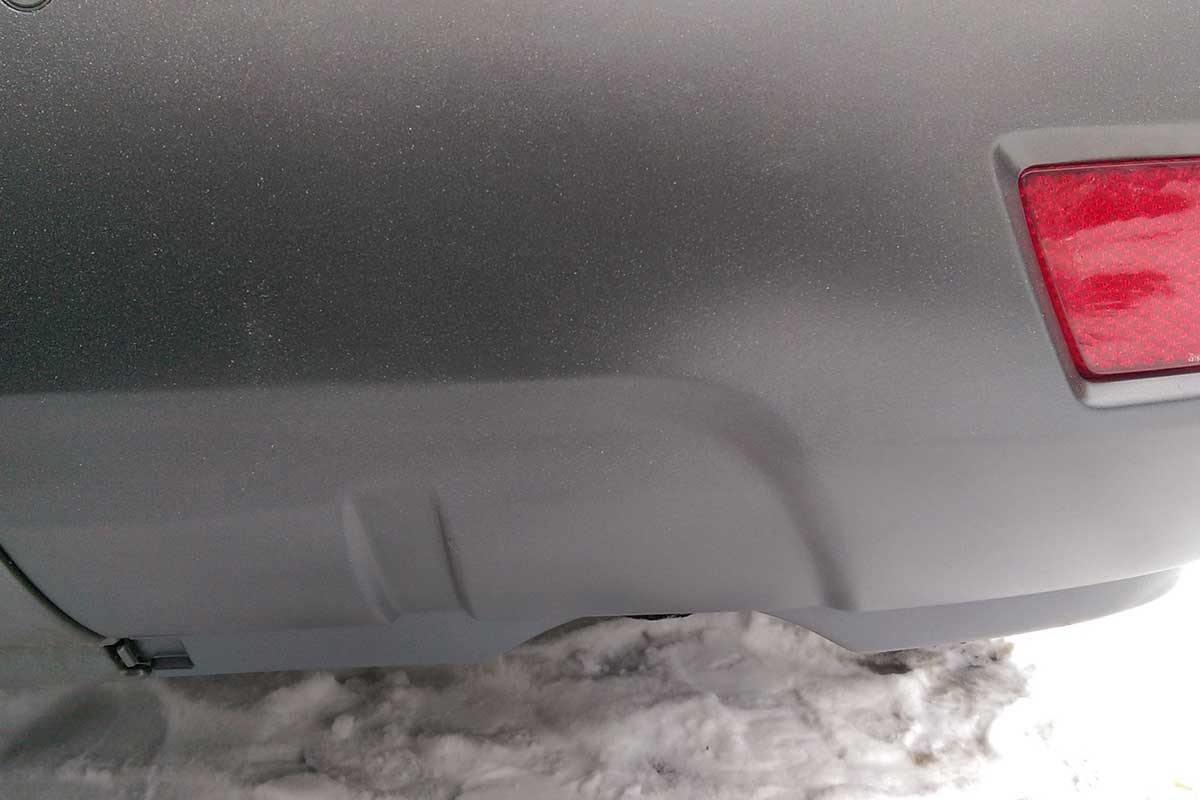 larger scuffs on silver bumper repaired