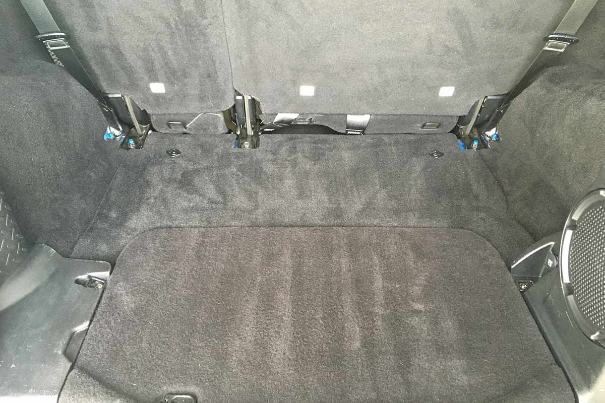 cleaned trunk area after detail