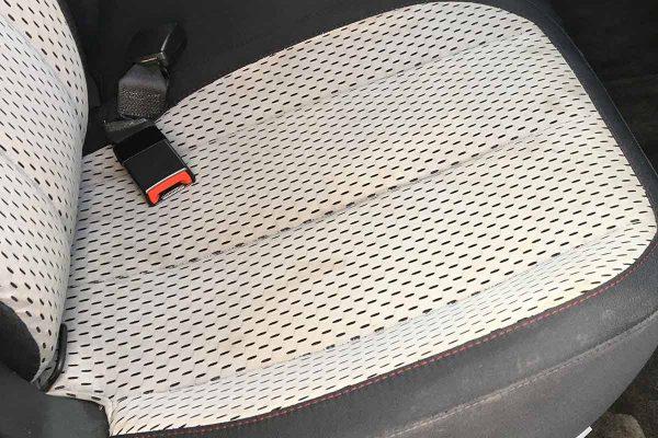 White Vinyl Seat, Car Seat